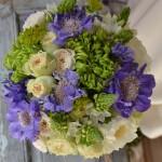 "Ramo realizado con Rosa inglesa David Austin""Patience"", crisantemo verde, scabiosa, blupeurum, triteleia,ornithogallum y bouvardia."